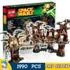 1990pcs New Space Wars Ewok Village Unique Tree House 05047 DIY Model Building Blocks Kit Bricks