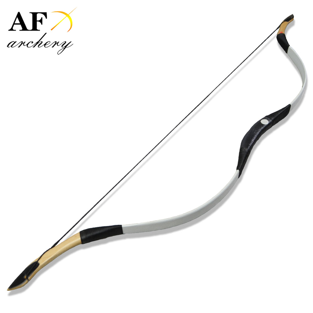 FB03 Handmade Ride Longbow Recurve  fiberglass hunting Pig Leather adult bow  white color Outdoor SportFB03 Handmade Ride Longbow Recurve  fiberglass hunting Pig Leather adult bow  white color Outdoor Sport