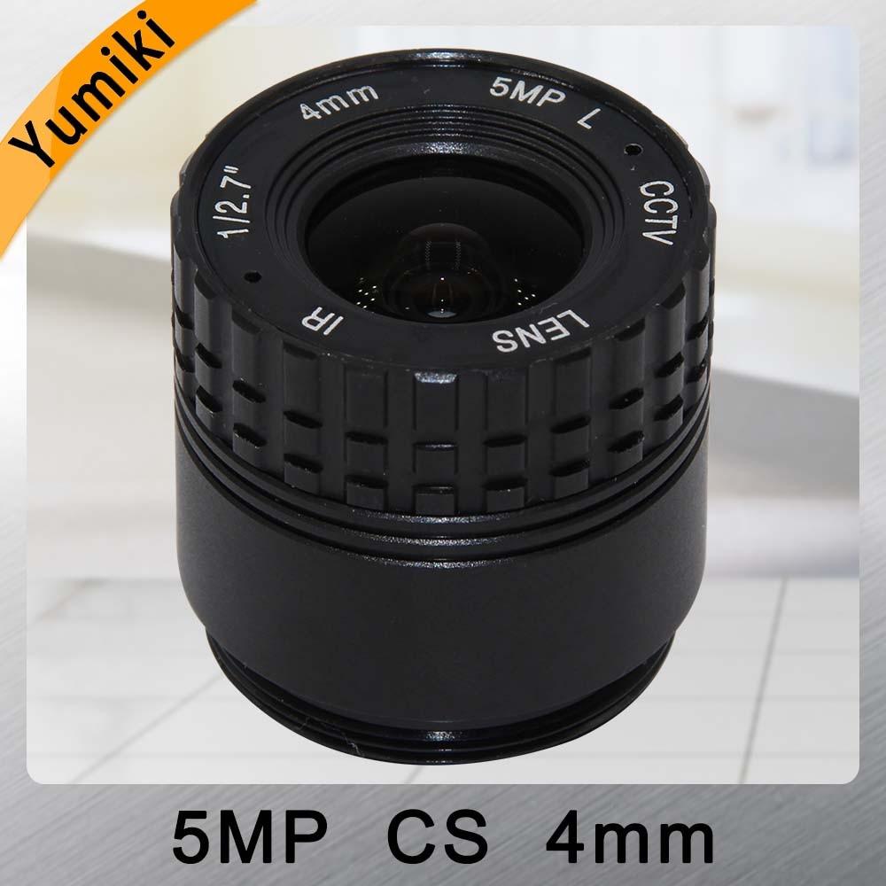 Yumiki 5.0MP HD 4mm CCTV Lens Manual Focal CS mount IR 1/2.5 5mp for Security IP CameraYumiki 5.0MP HD 4mm CCTV Lens Manual Focal CS mount IR 1/2.5 5mp for Security IP Camera