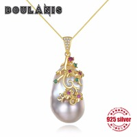 Boulanis S925 Sterling Silver Pendants Shaped Baroque Natural Pearls New Stylish Necklaces Jewelery Deliver Lovers' Gift