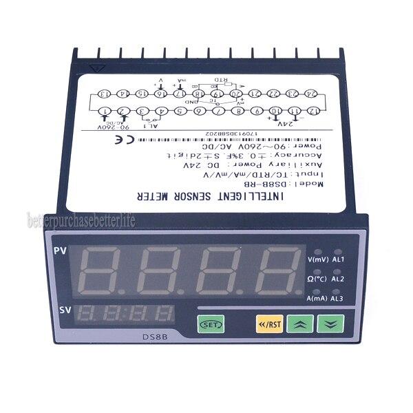 Digital Sensor Meter Intelligent Pressure Transmitters LED Display TC RTD mA mV V input 1 relay