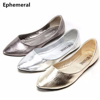 Women S Flats Ballerina Shoes Soft Sole Pointed Toe Breathable Slip On Ladies Loafers American Style