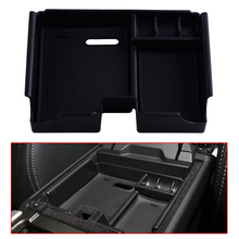 DWCX Armrest Storage Box Center Console Tray with Silicone Pad Fit for Land Rover Evoque 2011 2012 2013 2014 2015 2016 2017 hot black armrest storage box storage box armrest center console for honda fit 2014 2015 only fit for low equiped model