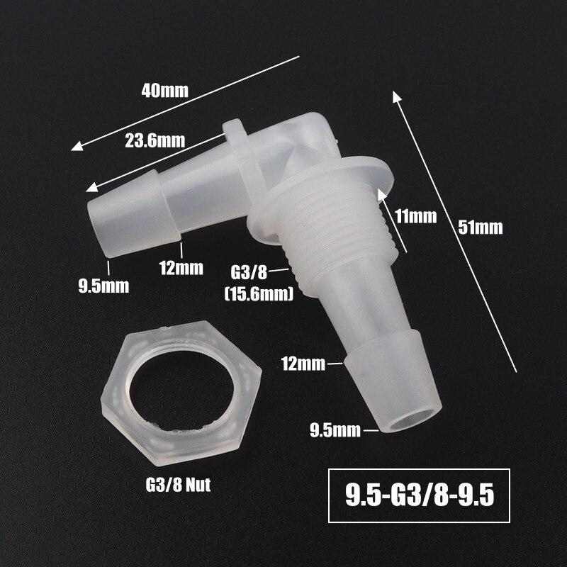 5pcs lot M6 M8 G 18 G1 2 Thread To 2 12mm PP Pagoda Elbow Connectors 5pcs/lot M6 M8 G/18~G1/2 Thread To 2-12mm PP Pagoda Elbow Connectors Hex Nut Aquarium Fish Tank Air Pump Fittings Hose Joints