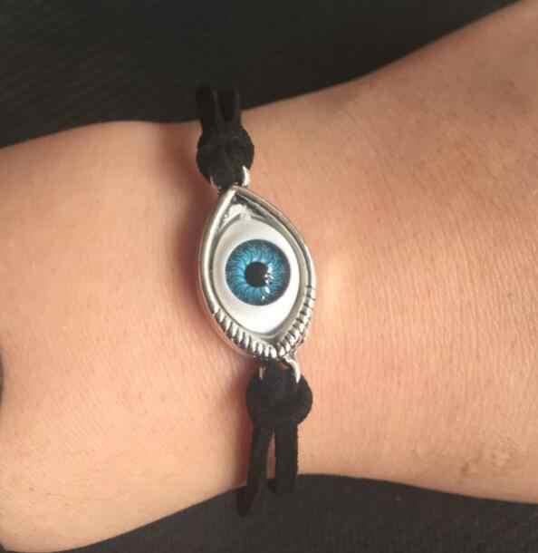 1 Uds. Pulseras de encanto ancla de cuero cadena negra triángulos geométricos cruz en forma de corazón joyería pulsera de encanto femenino