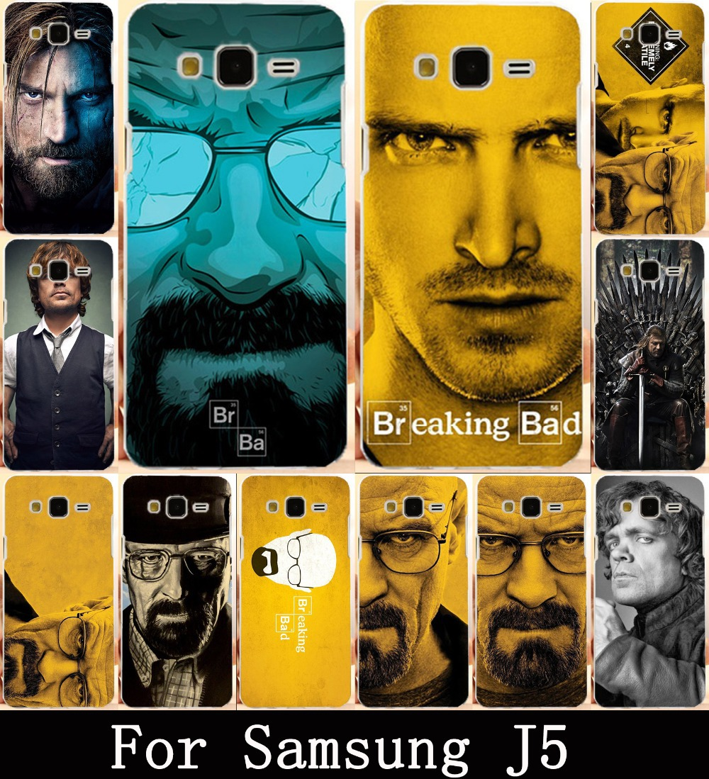 TV Breaking Bad Walter White Painting Soft TPU Case Cover For Samsung Galaxy J5 2015 J500F YC955 5.0 inch Shell Phone Bags Cases