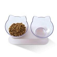 Pet Food Bowls Cat Dog 15 Degree Tilt Double Pets  Feeder Cute Cats Bowl