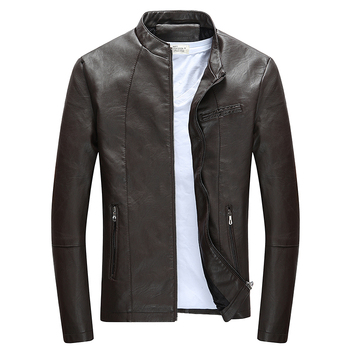Brand Motorcycle Leather Jackets Men Autumn and Winter Leather Clothing Men Leather Jackets Male Fashion Outwear Casual Coats 1