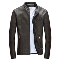 Brand Motorcycle Leather Jackets Men Autumn and Winter Leather Clothing Men Leather Jackets Male Fashion Outwear Casual Coats