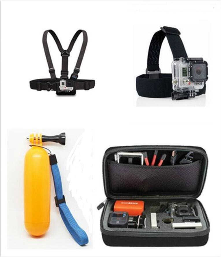 Prix pour Caméra Carry Case Sac, Sangle De poitrine Tête Courroie Flottante Poignée Grip Pour Gopro Hero 5 4 3 + SJCAM SJ5000 M10 M20 XIAOMI YI Caméra