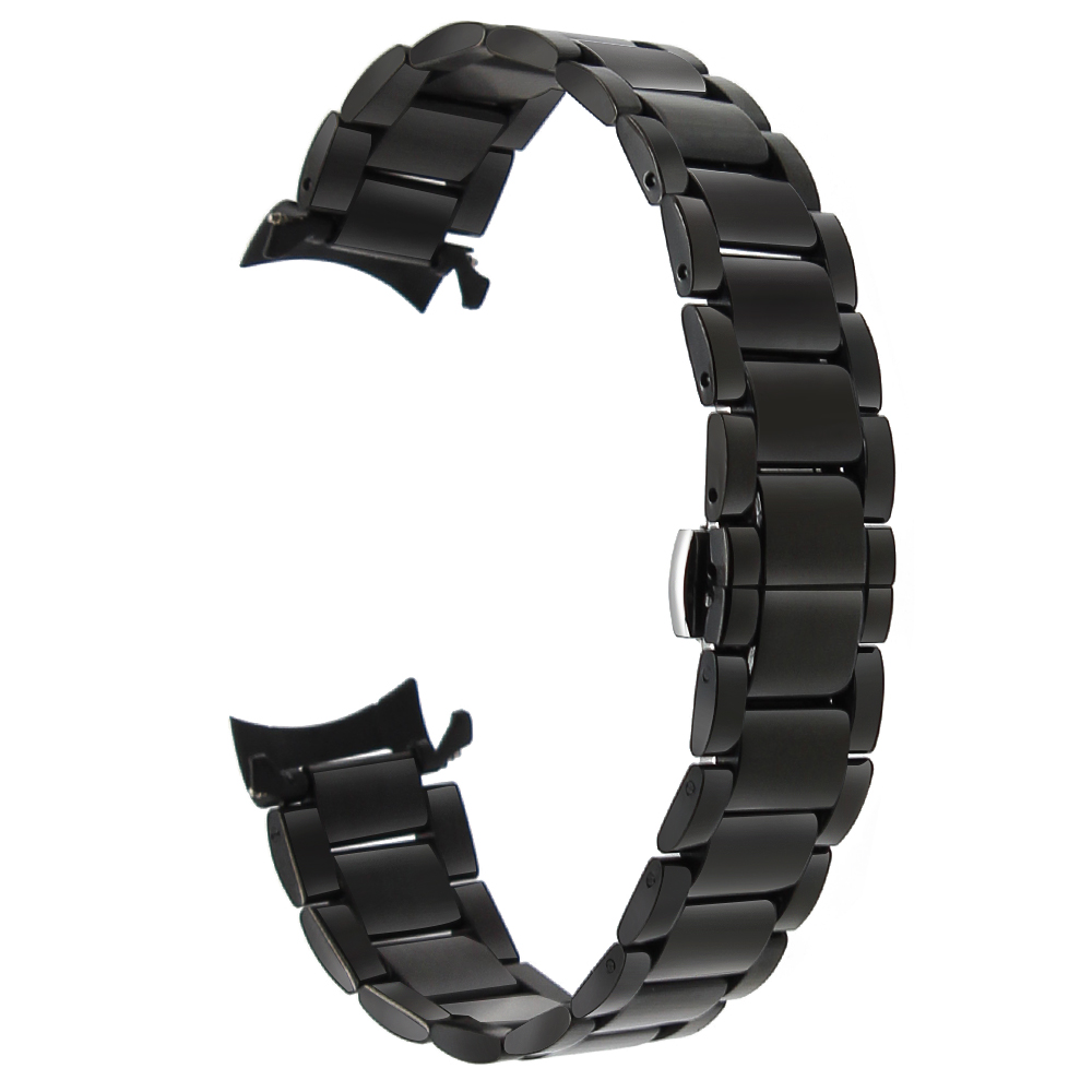 de6a2e80fdb 18mm 20mm 22mm Stainless Steel Watchband for Seiko Curved End Strap  Butterfly Buckle Belt Wrist Bracelet Black Gold Silver - aliexpress.com -  imall.com