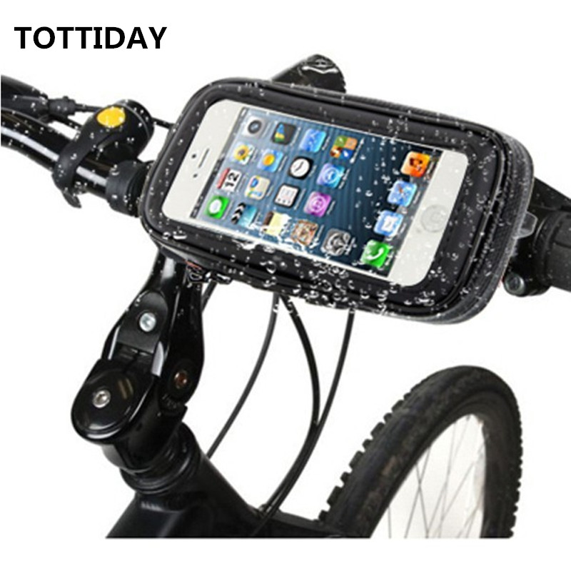 Motorcycle Bicycle Cycling GPS Pouch Holder for 6.3 inch Mobile Phone with Waterproof Bag for Galaxy S8 plus Note7 5 S6 edge+ pochette étanche pour téléphone