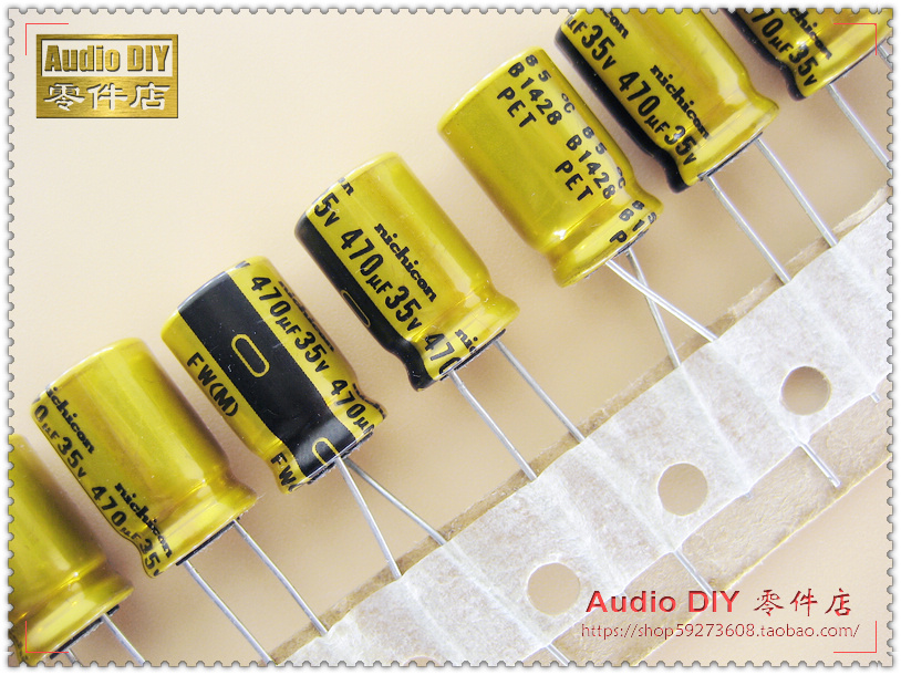 2019 Hot Sale 10pcs/30pcs Nichicon FW Series 470uF/35V Audio Electrolytic Capacitors Free Shipping