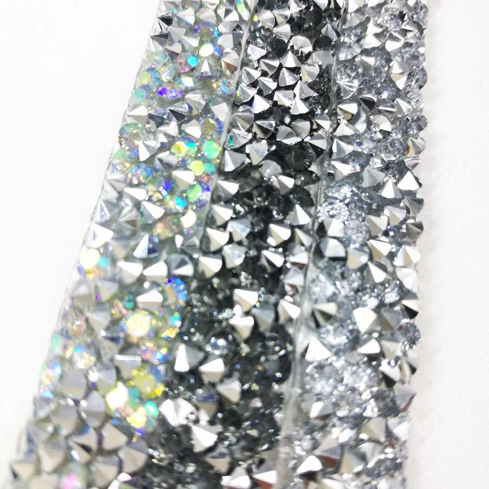 ... BlingBling AB rhienstone mesh Trim strass chain banding crystal wedding  applique dresses crafts 10mm width ... 5e02809df455