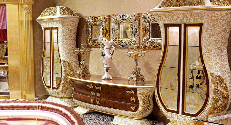 European Style Luxury Living Room Set Imperial Embossment ...