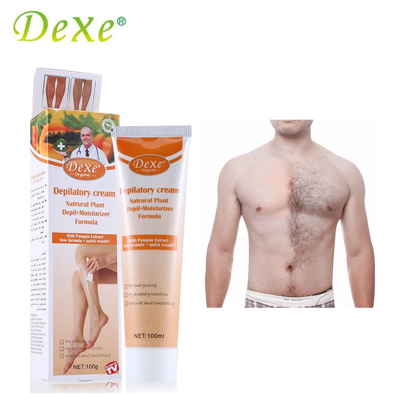 100g Dexe Organic Depilatory Cream Natural Plant Depil Hair Removing Cream for Women and Men Hair Removal Epilator with Extract savannah bee company natural and organic peach blossom shimmer lip tint 0 09 ounce