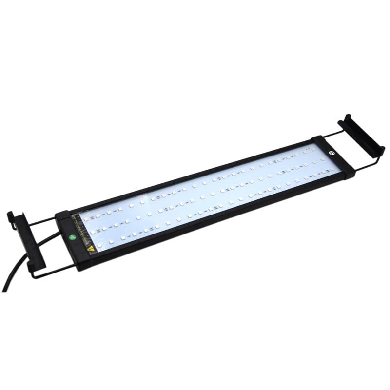 Colorful Aquarium Fish Tank Lamp Retractable Bracket Light 11W 50-75cm LED Lighting With Remote Control Adjustable Lighting