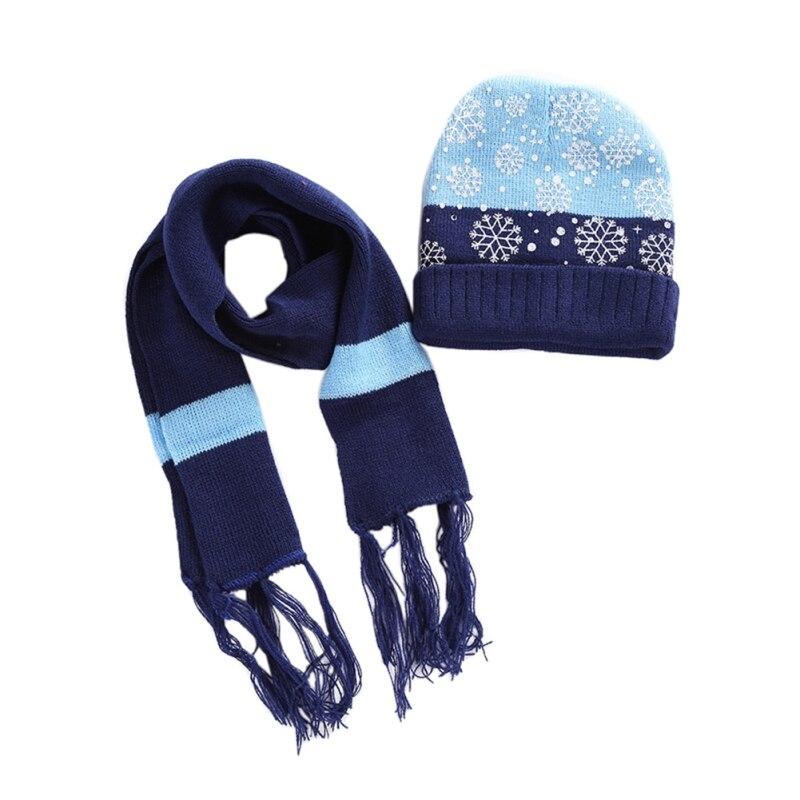 Комплект из 2 предметов, зимняя детская спортивная толстовка с капюшоном и шарфом, Рождественская акриловая Снежинка, ветрозащитная теплая ...