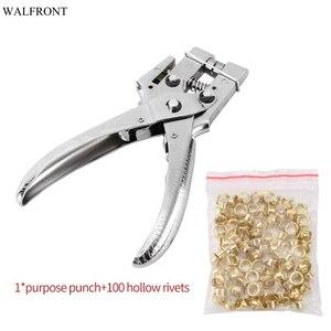 Практичные щипцы для ремней с заклепками, инструмент для перфорации заклепок с отверстиями, 100 шт.