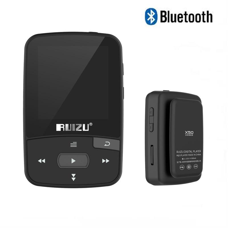 Ruizu Mini Sport Audio Bluetooth lecteur Mp3 musique Audio Hi-Fi MP3 Mp-3 avec Radio Fm numérique Hifi écran Flac Usb 8 Gb sans perte