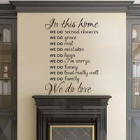 Home rules In This House We Do Love Vinyl wall decal wall art Living room decor Lettering Stickers 49x34
