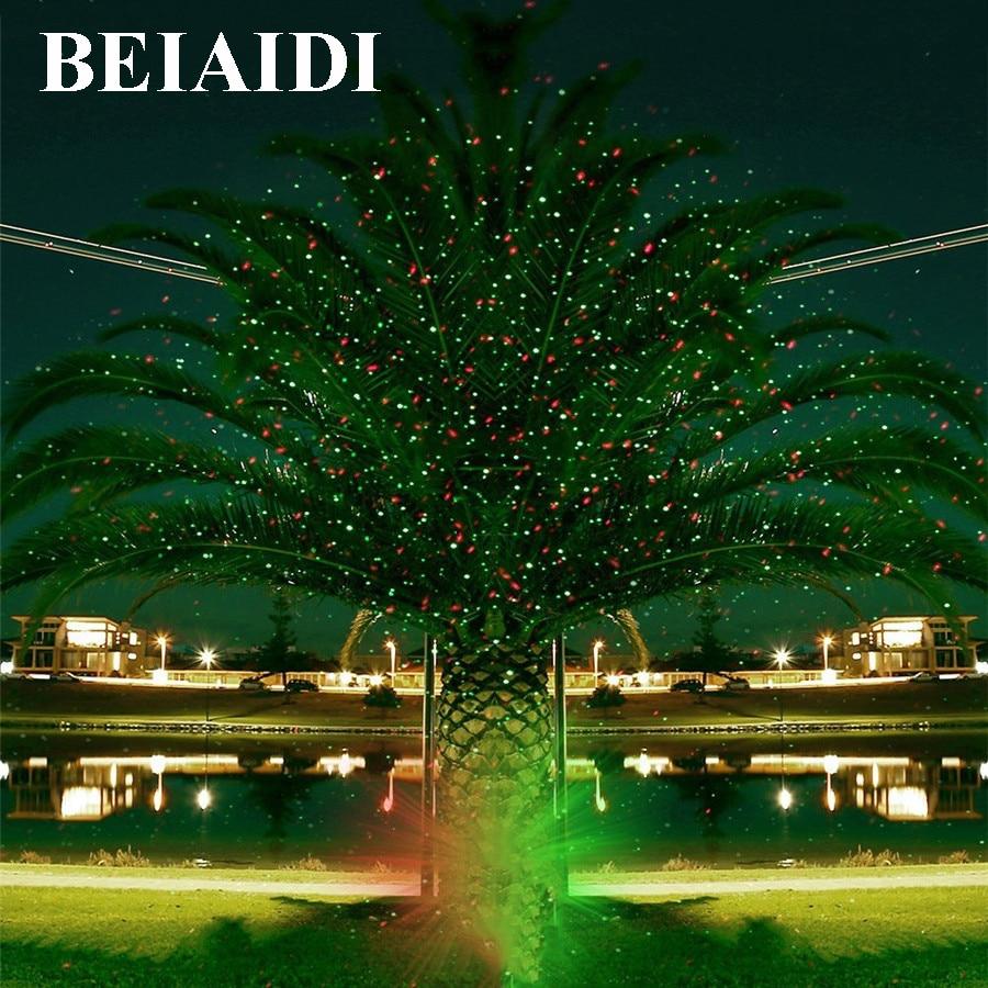 Laser Christmas lights star red green Projector Outdoor Garden ...