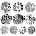 10pcs BORN PRETTY Stamping Plates Set BP46- 55 Nail Art Stamp Template Image Plates HOT Sale