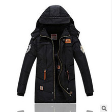 2016 Children's Winter Jackets Cotton-padded Boys Winter  Hooded  Windproof Thick  Warm Kids Parka Outerwear -30 degree 8-14year