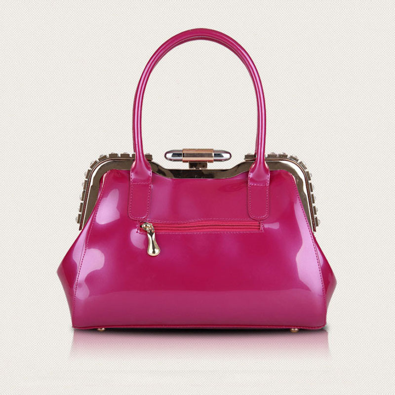 ФОТО New Women Handbag!!! 2017 Hot Sale Fashion Women Bags handbag Lady PU handbag Patent Leather Shoulder Bag handbags elegant