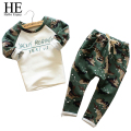 Hello Enjoy boys camouflage clothing kids  2016 autumn casual Children Sets sport Printing long sleeve + camouflage pants Suits