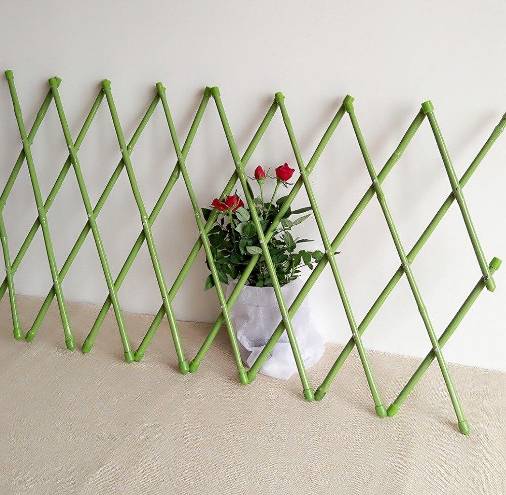 30x135 cm garten dekoration fechten pvc beschichtet bambuszaun zug