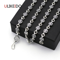 925 Sterling Silver Jewelry Pendant Necklaces Fishion Charm Punk Link Thai Silver Anchor Chain For Men
