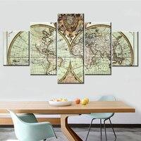 5 pcs 5d diy diamond painting full drill resin cross stitch diamond Mosaic World Map pattern embroidery rhinestones home Decor