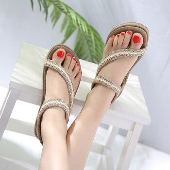 SIKETU Women Sandals  Bohemia casual fashion woman soft sandals Summer New  Women Flip Flops flat Beach plus size Shoes 1
