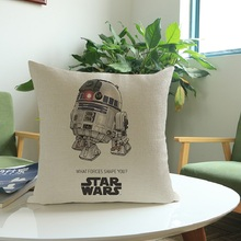 Nordic 3D Star Wars Cotton Linen Cushion Covers