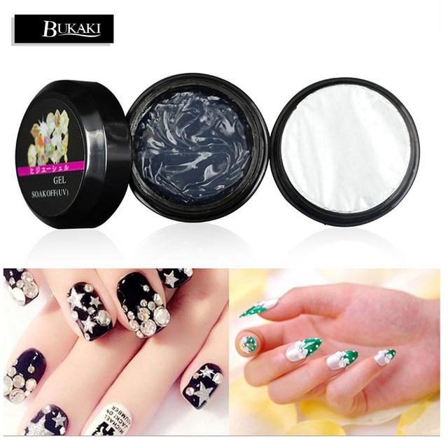 BUKAKI 1pcs UV Gel Nail Polish Glue Rhinestone Adhesives Super ...