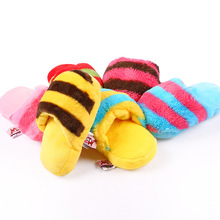 Squeak Pet Dog Fleece Toy Cat Puppy Teeth Cleaning Soft Chewing Interaction Toys Slipper Shape Lovely Products