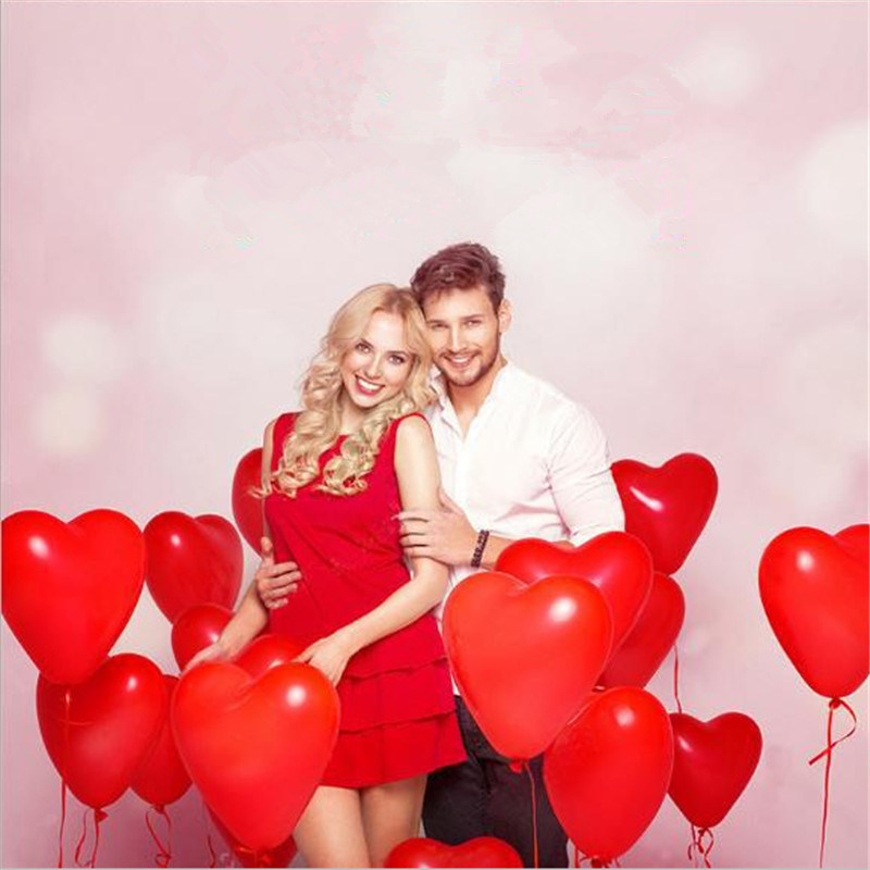 10Pc Love Heart Latex Helium Balloon For Wedding And Valentine Day Celebration 6