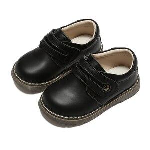 Image 5 - Sapatos meninos de escola estudante de couro genuíno sapatos pretos primavera outono zapato calçados para crianças chaussure menino calçados infantis