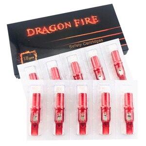Image 5 - Dragon Fire 10pcs Tattoo Cartridge Needles Curved Magnum Disposable Semi Permanent Eyebrow Makeup Needles 5RM/7RM/9RM/11RM/13RM