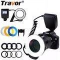 Travor 48 шт. светодиодный макросъемный кольцевой светильник RF-550D скоростной светильник для Nikon Canon Olympus Pentax с 8 переходным кольцом/4 рассеивателе...