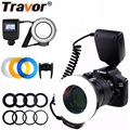 Travor 48 PCS LED Macro Ring Flash Light RF-550D Blitzgerät Für Nikon Canon Olympus Pentax Mit 8 Adapter Ring/ 4 Flash Diffusor