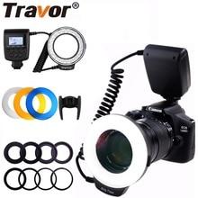 Travor 48 pièces LED Macro anneau Flash lumière RF 550D Flash pour Nikon Canon Olympus Pentax avec 8 anneau adaptateur/4 diffuseur Flash