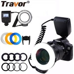 Image 1 - Travor 48PCS LED Macro Ring Sáng RF 550D Tốc Dành Cho Nikon Canon Olympus Pentax 8 Adapter Ring/4 Đèn Flash Máy Khuếch Tán Tinh Dầu