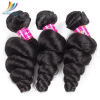 Sevengirls Loose Wave Bundles Malaysian 100% Virgin Human Hair Bundles Natural Color Human Hair Weaving 3 Bundles 10 30 Inch