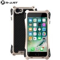 R JUST AMIRA I8 Plus Case TPU Carbon Fiber 360 Degree Full Protection Case For Apple