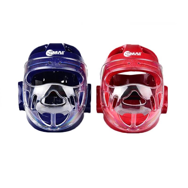 Official Original WKF Approved SMAI Karate Head Mask Adult Children Karate Head Guard Headgear Protection Taekwondo Mask Helmets