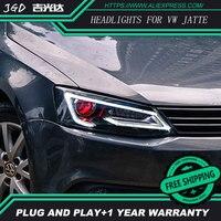 Автомобиль Стайлинг для VW jetta фары 2012 2017 jetta светодио дный фар DRL Объектив Двойной Луч jetta H7 Ксеноновые bi Xenon объектива