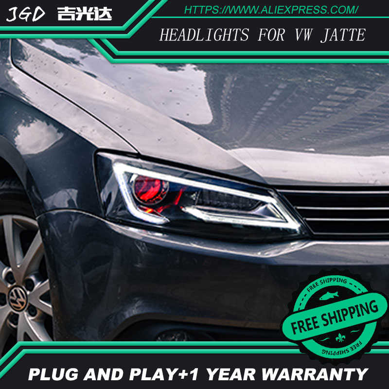 Car Styling for VW jetta Headlights 2012-2017 jetta LED Headlight DRL Lens Double Beam jetta H7 HID Xenon bi xenon lens mooncase чехол