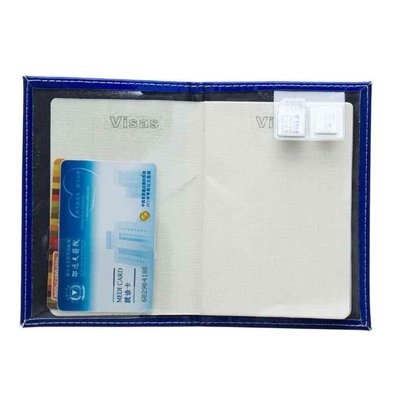 THINKTHENDO Moda Hologram Seyahat Pasaport KIMLIK Kredi kart tutucu Kılıf Kapak Koruyucu Organizatör 14.2x9.5 cm